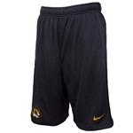 Mizzou Nike 2015 Dri-Fit Oval Tiger Head Charcoal Shorts