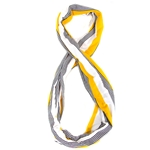 Black, White & Gold Striped Infinity Scarf