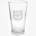 Mizzou Etched Pint Glass