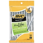 Bic Round Stic Ball Black Pens - 10 Pack