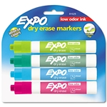 Expo Chisel Tip Assorted Tropical Dry Erase Markers - 4 Pack