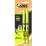 Bic Brite Yellow Highlighter with Liner Grip - 2 Pack