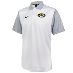 Mizzou Nike Oval Tiger Head White Polo