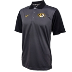 Mizzou Nike Oval Tiger Head Charcoal Polo