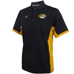 Mizzou Nike Oval Tiger Head Black & Gold Polo