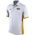 Mizzou Nike 2015 Dri-Fit White & Gold Polo