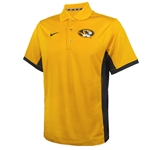 Mizzou Nike Oval Tiger Head Gold Polo