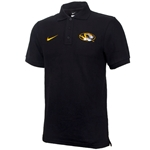 Mizzou Nike Oval Tiger Head Black Polo