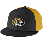 Mizzou Nike 2015 Dri-Fit Black & Gold Flatbill Stretch-Fit Hat