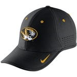 Mizzou Nike 2015 Dri-Fit Oval Tiger Head Black Adjustable Hat