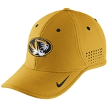 Mizzou Nike Dri-Fit Oval Tiger Head Gold Adjustable Hat