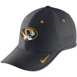 Mizzou Nike 2015 Dri-Fit Oval Tiger Head Charcoal Adjustable Hat