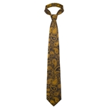 Mizzou Official Paisley Black Silk Tie