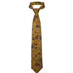 Mizzou Official Paisley Gold Polyester Tie