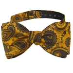 Mizzou Official Paisley Gold Bow Tie