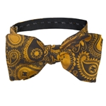 Mizzou Official Paisley Black Bow Tie