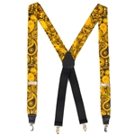 Mizzou Official Paisley Black Suspenders