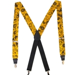 Mizzou Official Paisley Gold Suspenders