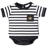 Mizzou Oval Tiger Head Black Polka Dot Onesie