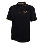 Mizzou Antigua Tiger Head Black Polo