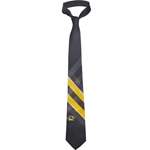 Mizzou Oval Tiger Head Black & Gold Tie