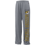 Mizzou Tigers Grey Open Bottom Sweatpants