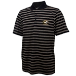 Mizzou Cutter & Buck Oval Tiger Head Black & Gold Polo