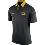 Mizzou Nike 2015 Oval Tiger Head Black Polo