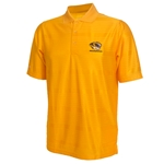 Mizzou Antigua Tiger Head Gold Striped Polo