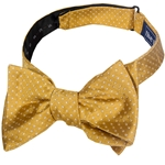 Mizzou Dotted Gold Adjustable Self-Tie Bow Tie