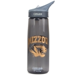 Mizzou CamelBak Tiger Head Charcoal & Gold Bottle