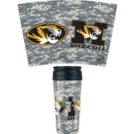 Mizzou Oval Tiger Head Camouflage Travel Mug