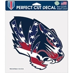 Mizzou Tiger Head Red, White & Blue Decal