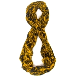 Mizzou Official Paisley Gold Infinity Scarf