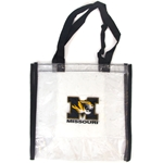 Missouri Tiger Head Clear Stadium Tote Bag