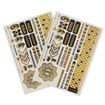 Mizzou Metallic Jewelry Body Tattoos