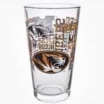 Mizzou Black & Gold Spirit Pint Glass