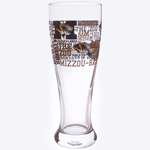 Mizzou Black & Gold Spirit Pilsner Glass