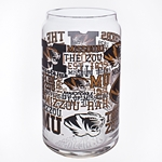 Mizzou Black & Gold Spirit Glass