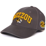 Mizzou SEC Charcoal Adjustable Hat