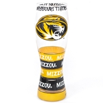 Mizzou Tigers Black & Gold Hand Painted Pilsner Glass