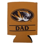 Mizzou Dad Oval Tiger Head Can Holder