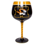 Missouri Hand Painted Black & Gold Wine Glass