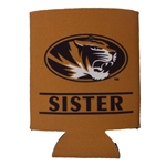 Mizzou Sister Oval Tiger Head Can Holder