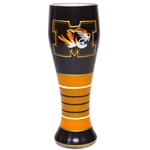 Missouri Black & Gold Hand Painted Pilsner Glass