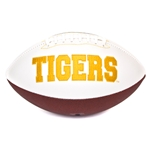 Mizzou Tigers Full Size White & Brown Football