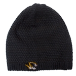 Mizzou Tiger Head Grey & Striped Reversible Beanie