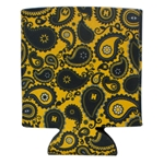 Mizzou Official Paisley Gold Can Holder