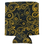 Mizzou Official Paisley Black Can Holder