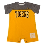 Mizzou Tigers Grey & Gold Onesie